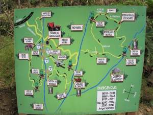 Trailhead map
